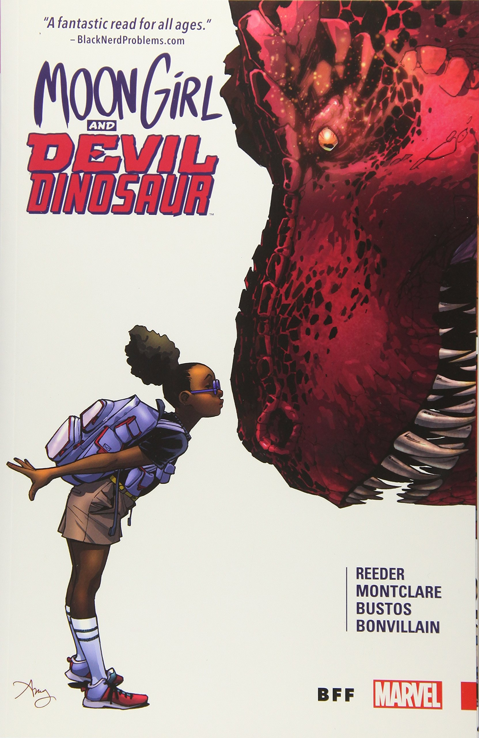 Cover for Moon Girl and Devil Dinosaur book.