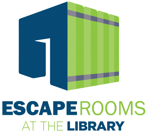 Escape Rooms at the Library logo.